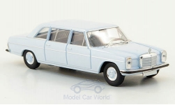 Modelcar - <strong>Mercedes</strong> 220 D long (W115), light blue, without Kartonschuber<br /><br />Brekina Starmada, 1:87<br />No. 162698
