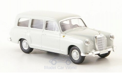 Modelcar - <strong>Mercedes</strong> 180 station wagon (W120), light grey, without Kartonschuber, 1955<br /><br />Brekina Starmada, 1:87<br />No. 163741