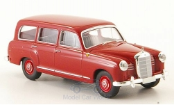 Modelcar - <strong>Mercedes</strong> 180 station wagon (W120), dark red, 1955<br /><br />Brekina Starmada, 1:87<br />No. 163743