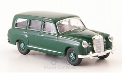 Modelcar - <strong>Mercedes</strong> 180 station wagon (W120), dark green, without Kartonschuber, 1955<br /><br />Brekina Starmada, 1:87<br />No. 163744