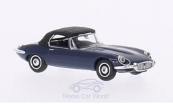 Modelcar - <strong>Jaguar</strong> E-Type Roadster, dark blue, canopy closed, without showcase<br /><br />Ricko, 1:87<br />No. 164649