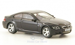 Modellauto - <strong>BMW</strong> M6, zwart, 2006<br /><br />Ricko, 1:87<br />Nr. 164658