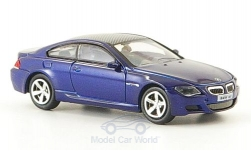 Modellauto - <strong>BMW</strong> M6, blauw, 2006<br /><br />Ricko, 1:87<br />Nr. 164659