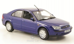 Modellauto - <strong>Ford</strong> Mondeo MKIII, metallic-dunkelblau, Stufenheck 2001<br /><br />I-Minichamps, 1:43<br />Nr. 165775