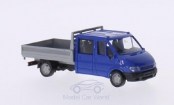 Modellauto - <strong>Ford</strong> Transit Doppelkabine, blau/silber, ohne Vitrine, 2001<br /><br />I-Rietze, 1:87<br />Nr. 166003