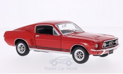 Modelcar - <strong>Ford</strong> Mustang GT Fastback, red, 1967<br /><br />Welly, 1:24<br />No. 167246
