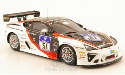 Modelcar - <strong>Lexus</strong> LFA, No.51, Gazoo Racing, 24h Nuerburgring, A.Hahne/J.Krumbach/A.Lotterer, 2010<br /><br />Ebbro, 1:43<br />No. 167263