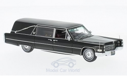 Modelcar - <strong>Cadillac</strong> S&S Landau Hearse, black, Funeral vehicle<br /><br />Neo, 1:43<br />No. 167757