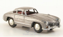 Modelcar - <strong>Mercedes</strong> 300 SL (W198), metallic-grey<br /><br />Bub, 1:87<br />No. 168484