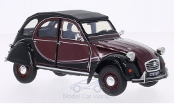 Modellino - <strong>Citroen</strong> 2CV 6 Charlestone, rosso-scuro/nero<br /><br />Welly, 1:24<br />n. 169381