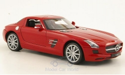 Modellauto - <strong>Mercedes</strong> SLS AMG (C197), rot<br /><br />Welly, 1:24<br />Nr. 173448