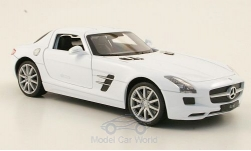 Modellauto - <strong>Mercedes</strong> SLS AMG (C197), weiss<br /><br />Welly, 1:24<br />Nr. 173449
