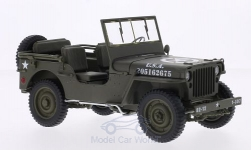 Modelcar - <strong>Jeep</strong> Willys, mattoliv, U.S. Army, open<br /><br />Welly, 1:18<br />No. 174387