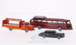 Modelcar - <strong>Set</strong> WIKING-VERKEHRS-MODELLE Nr.9: Mercedes 300, L 3500 bed for beverages and O 6600 H,, German Bundesbahn<br /><br />Wiking / PMS, 1:87<br />No. 178488