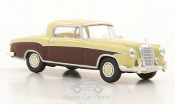 Modellauto - <strong>Mercedes</strong> 220 S Coupe (W180 II), hellbeige/braun<br /><br />Brekina Starmada, 1:87<br />Nr. 179794