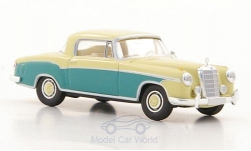 Modellauto - <strong>Mercedes</strong> 220 S Coupe (W180 II), hellbeige/grün<br /><br />Brekina Starmada, 1:87<br />Nr. 179795