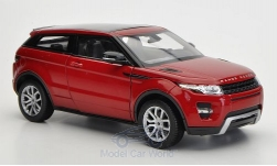 Modelcar - <strong>Land Rover</strong> Range Rover Evoque, metallic-red, without showcase<br /><br />Welly, 1:24<br />No. 182676