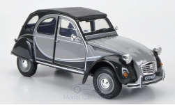 Modelcar - <strong>Citroen</strong> 2CV 6 Charlston, grey/dunkelgrau, without showcase<br /><br />Welly, 1:24<br />No. 182686