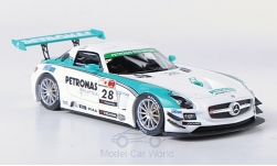 Modellauto - <strong>Mercedes</strong> SLS AMG GT3, No.28, Petronas Synthium, 12h Merdeka, M.Moh/T.Kataoka/J.Lester/R.Ritchie, 2011<br /><br />Ebbro, 1:43<br />Nr. 184186