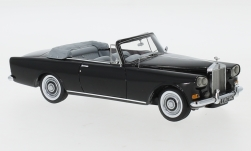 Modelcar - <strong>Rolls Royce</strong> silver Cloud III Mulliner Park Ward DHC, black, RHD, 1963<br /><br />Neo, 1:43<br />No. 184373