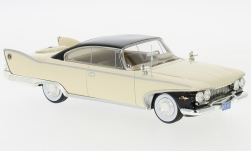 ModelCar - <strong>Plymouth</strong> Fury Coupe, hellbeige/schwarz, 1960<br /><br />Neo, 1:43<br />No. 185559