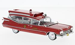 Modelcar - <strong>Cadillac</strong> S&S Superior Ambulance, red, 1959<br /><br />Neo, 1:43<br />No. 185710