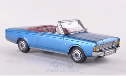 ModelCar - <strong>Ford</strong> Taunus (P7b) 26M Cabriolet Deutsch, metallic-blau, 1970<br /><br />Neo Limited 300, 1:43<br />No. 185854