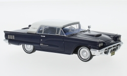 Modellino - <strong>Ford</strong> Thunderbird Hardtop, metallic-blu-scuro/bianco, 1960<br /><br />Neo, 1:43<br />n. 185898