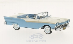 Modellauto - <strong>Ford</strong> Fairlane 500 Convertible, hellblau/weiss, 1957<br /><br />Neo, 1:43<br />Nr. 185944