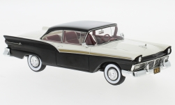 voiture miniature - <strong>Ford</strong> Fairlane 500 Hardtop, noire/blanche, 1957<br /><br />Neo, 1:43<br />N° 185981