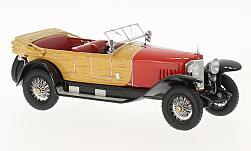 Modelcar - <strong>Mercedes</strong> 28/95, red/wood optics, RHD, 1922<br /><br />Neo, 1:43<br />No. 186047