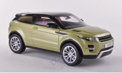 Modelcar - <strong>Land Rover</strong> Range Rover Evoque, metallic-light green/black, without showcase<br /><br />Welly, 1:18<br />No. 186124