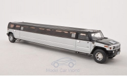 Modellauto - <strong>Hummer</strong> H2 Stretch Limousine, schwarz/silber<br /><br />Neo, 1:43<br />Nr. 186350