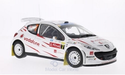Modellauto - <strong>Peugeot</strong> 207 S2000, No.7, Vodafone, Rallye Portugal, M.Stohl/I.Minor, 2008<br /><br />Sun Star, 1:18<br />Nr. 186520