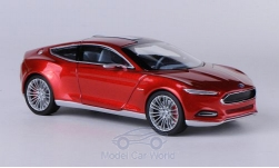 Modellauto - <strong>Ford</strong> Evos Concept, metallic-rood, IAA Frankfurt, 2011<br /><br />Norev, 1:43<br />Nr. 186987
