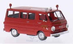 Modellauto - <strong>Dodge</strong> A 100 Bus, Emergency Fire Dept., Feuerwehr (USA)<br /><br />Brekina, 1:87<br />Nr. 190356