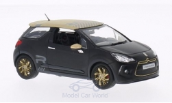 Modellauto - <strong>Citroen</strong> DS3 Racing, matt-schwarz/matt-gold, 2013<br /><br />Norev, 1:43<br />Nr. 190492