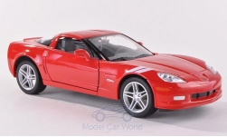 Modellauto - <strong>Chevrolet</strong> Corvette Z06 (C6), rot, 2007<br /><br />Lucky Die Cast, 1:24<br />Nr. 191135