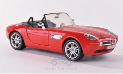 Modelcar - <strong>BMW</strong> Z8, red, without showcase<br /><br />Motormax, 1:24<br />No. 191184