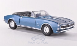 Modelcar - <strong>Chevrolet</strong> Camaro SS Convertible, metallic-blue/Decorated, canopy open, 1967<br /><br />Motormax, 1:24<br />No. 191191
