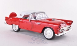 Modelcar - <strong>Ford</strong> Thunderbird, red/white, 1956<br /><br />Motormax, 1:24<br />No. 191196