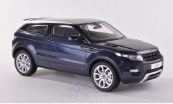 Modelcar - <strong>Land Rover</strong> Range Rover Evoque metallic-dark blue, RHD, without showcase, 2011<br /><br />Century Dragon, 1:18<br />No. 191236