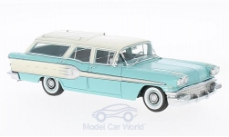 Modelcar - <strong>Pontiac</strong> star Chief Safari light turquois/white, 1958<br /><br />Neo, 1:43<br />No. 192324
