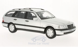 Modellauto - <strong>Mercedes</strong> C220 T-Model (S202), zilver, 1996<br /><br />BoS-Models, 1:18<br />Nr. 193257