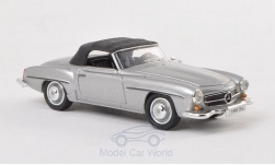 Modellauto - <strong>Mercedes</strong> 190 SL (W121 BII), silber<br /><br />Ricko, 1:87<br />Nr. 193527