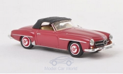 Modellauto - <strong>Mercedes</strong> 190 SL (W121 BII), dunkelrot<br /><br />Ricko, 1:87<br />Nr. 193540