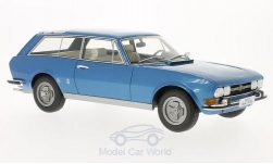 Modellauto - <strong>Peugeot</strong> Break Riviera, metallic-blauw, 1971<br /><br />BoS-Models, 1:18<br />Nr. 193564