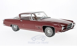 Modelcar - <strong>Chrysler</strong> Dual Ghia L 6.4 Coupe, metallic-dark red, without showcase, 1960<br /><br />BoS-Models, 1:18<br />No. 193750