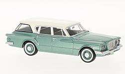 Modelcar - <strong>Plymouth</strong> Valiant Station Wagon, metallic-green/white, 1960<br /><br />Neo, 1:43<br />No. 193838