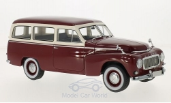 Modelcar - <strong>Volvo</strong> PV445 duet, dark red/beige, 1956<br /><br />BoS-Models, 1:18<br />No. 194374